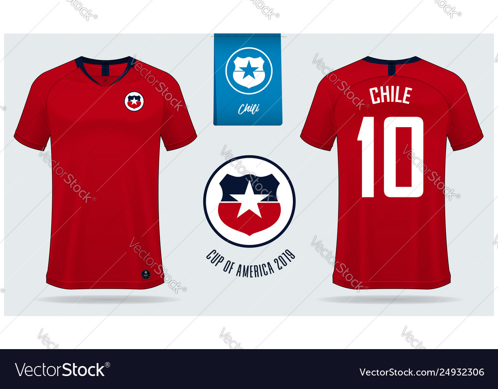 Chile soccer jersey or football kit mockup