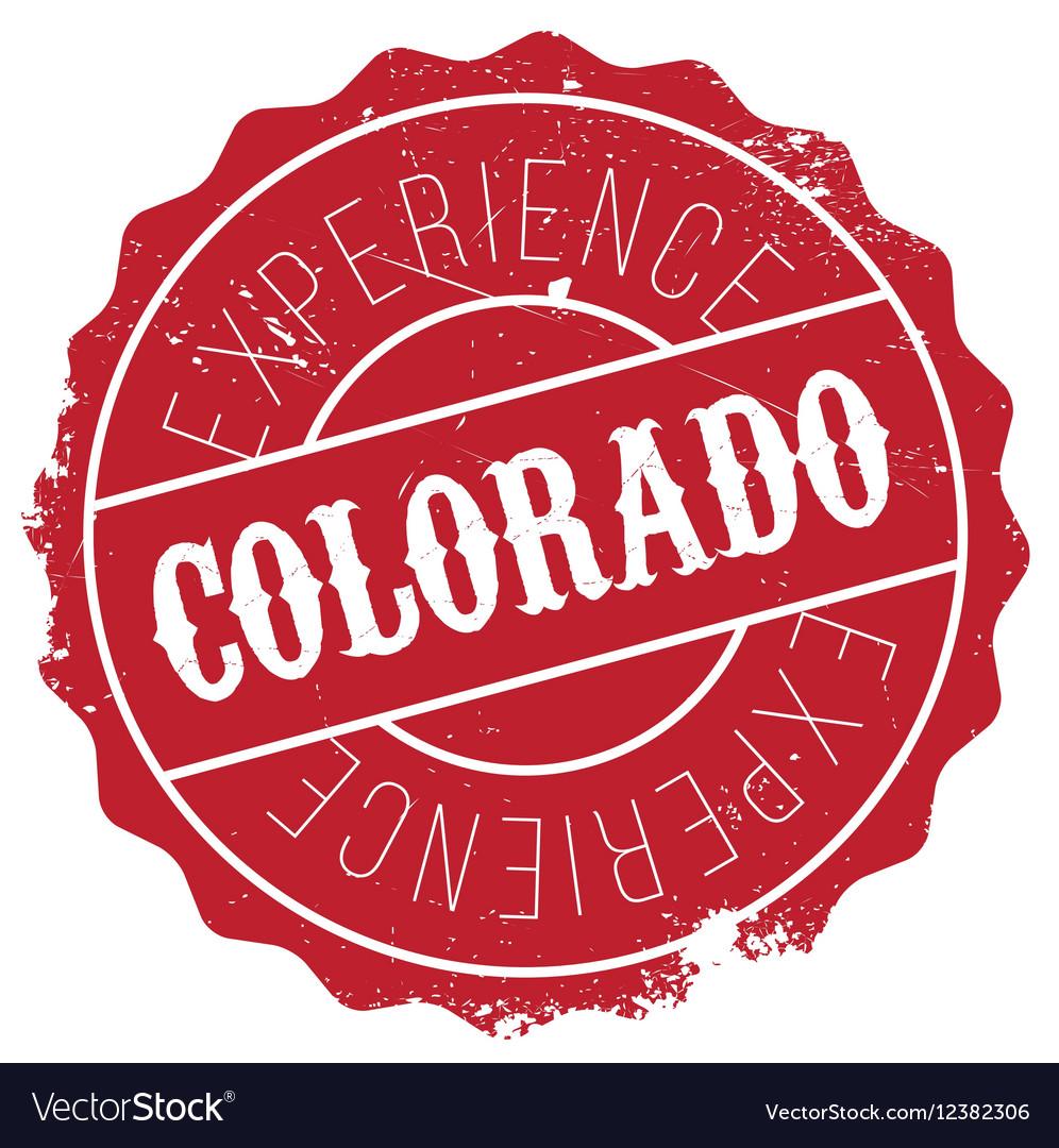 Colorado Stamp Rubber Grunge Vector Image