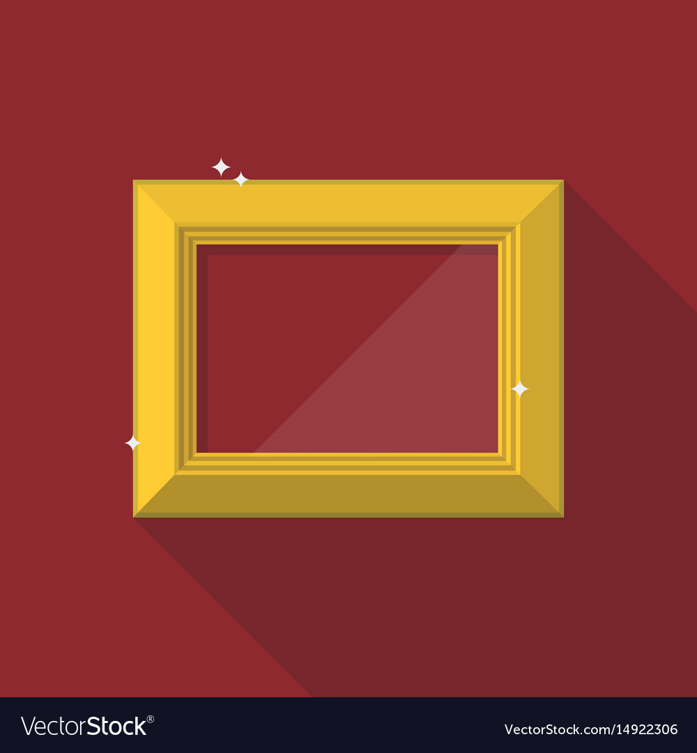Golden frame in flat style
