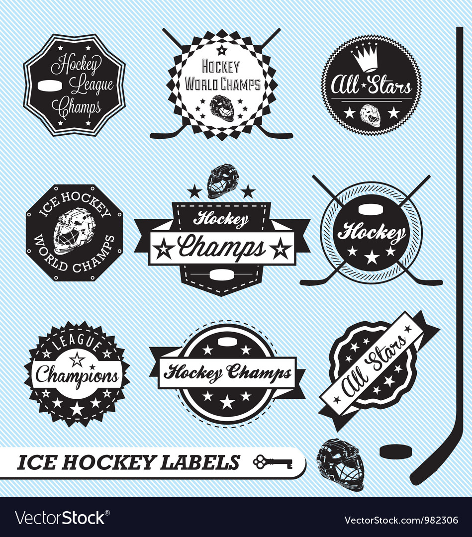 Hockey Champs Labels