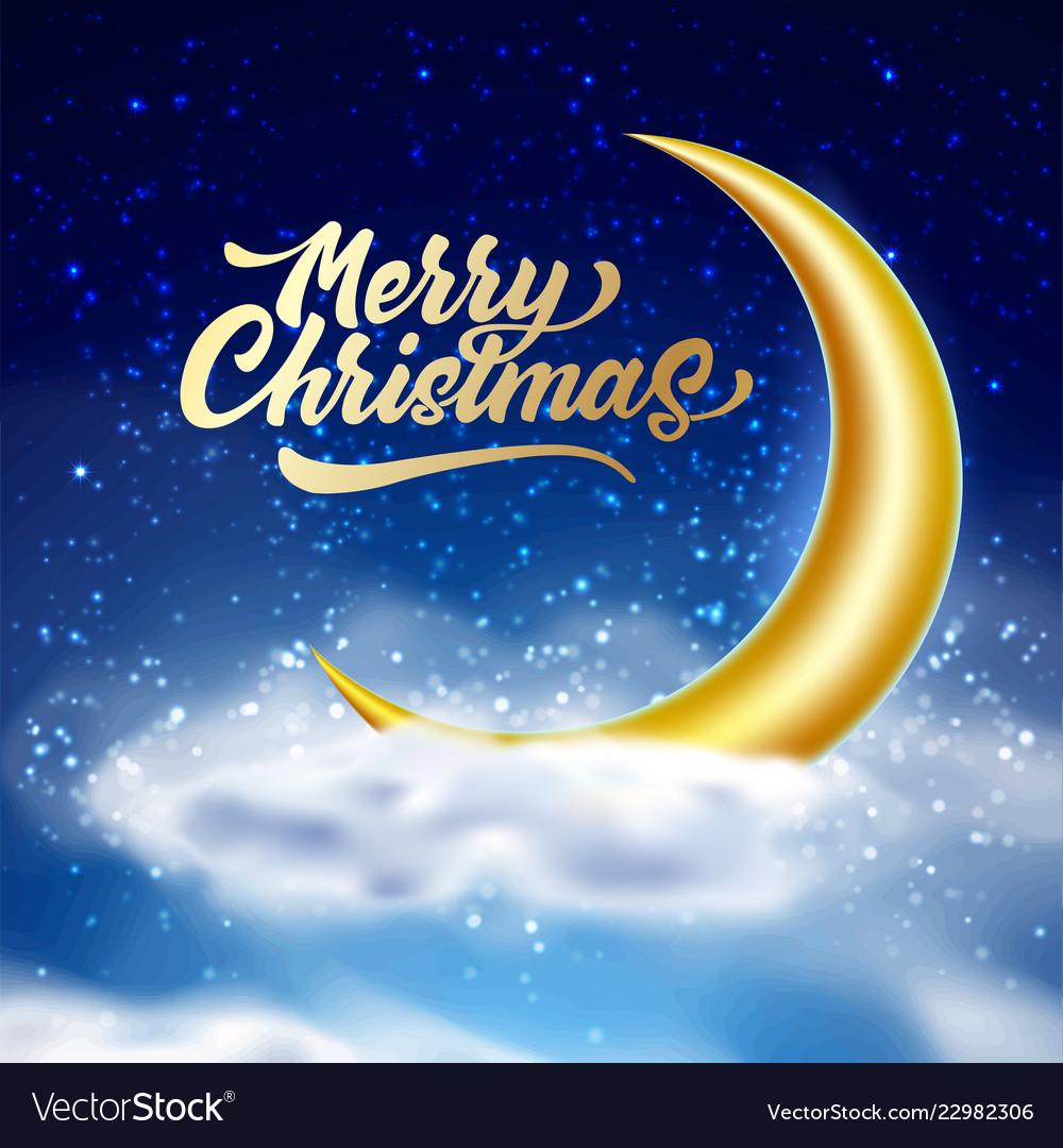 Merry christmas magic night sky with cloud