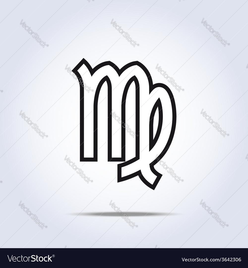 Simplistic virgo zodiac star sign vector image