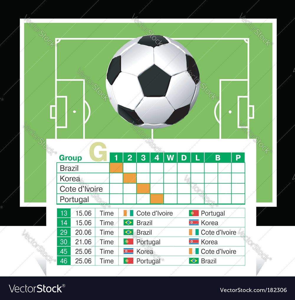World cup 2010 Vector Image