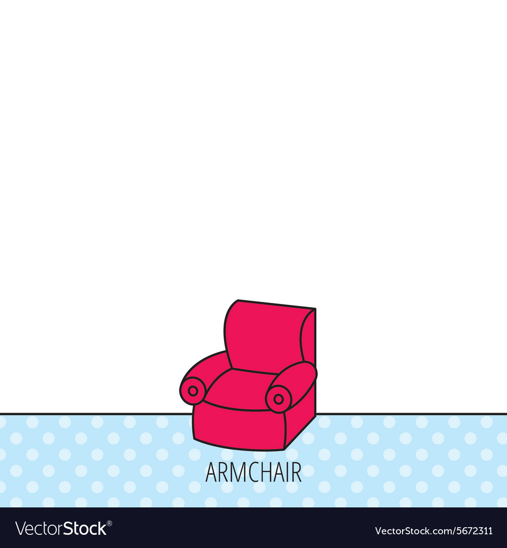 Armchair icon Comfortable furniture sign