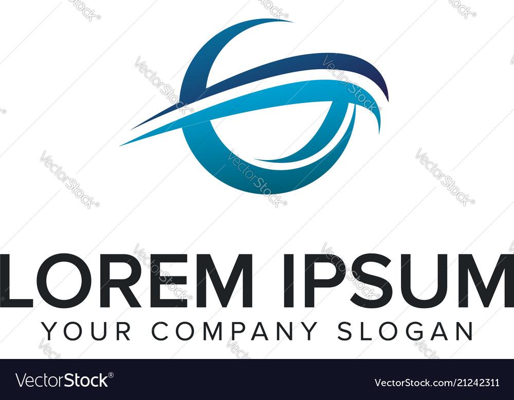 Cative modern letter g logo design concept