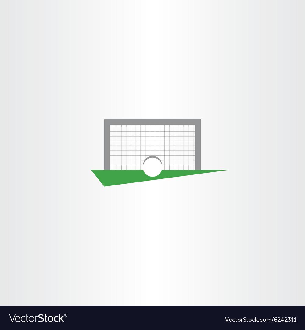 Football soccer icon goal net