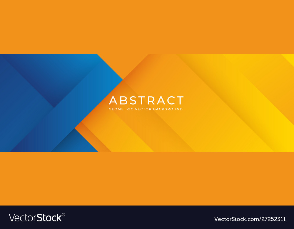 Geometric blue and orange background abstract Vector Image