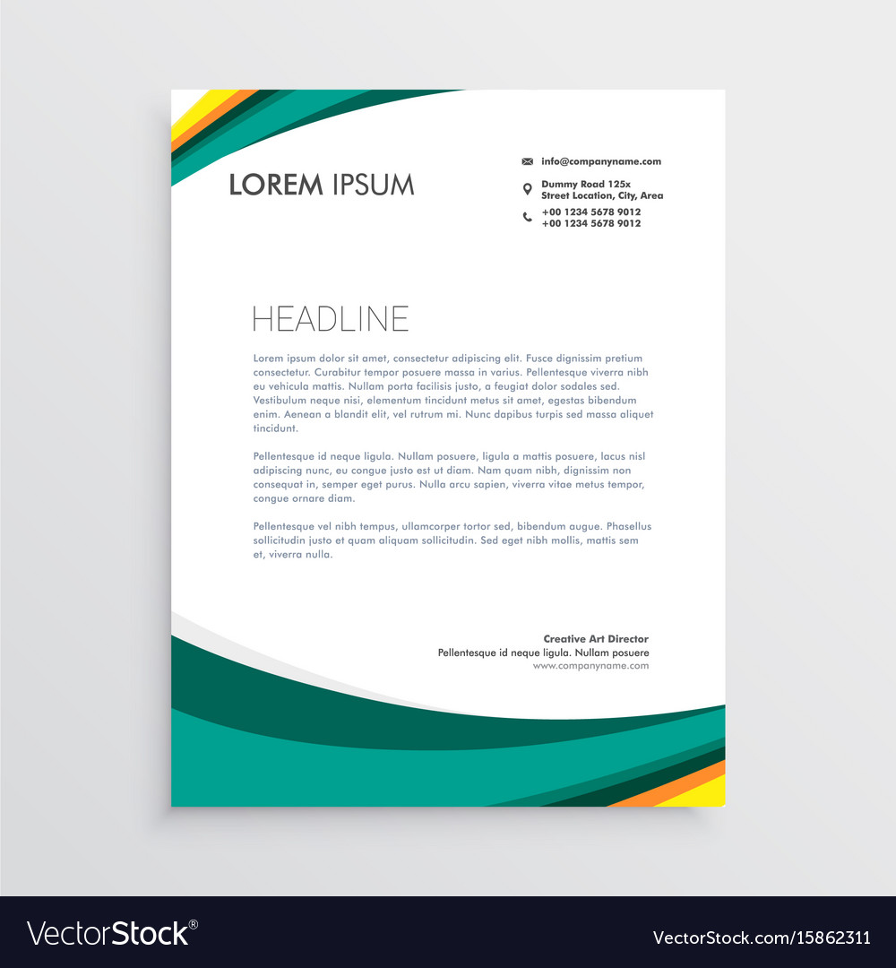 Green visual identity letterhead design template vector image maxwellsz