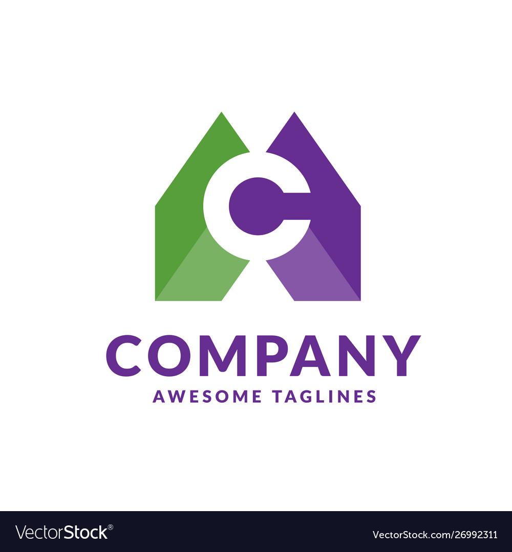 Letter c colorful logo