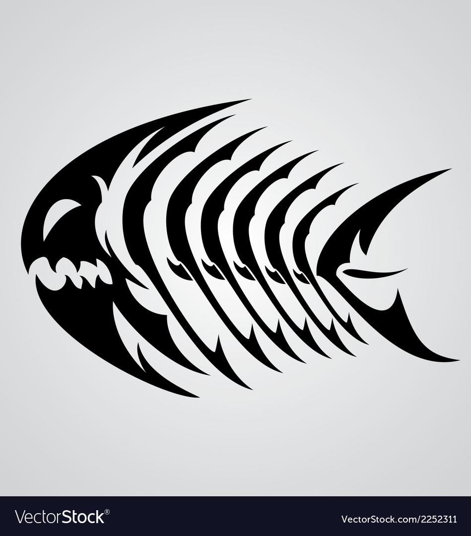 Monster Fish Tribal vector image