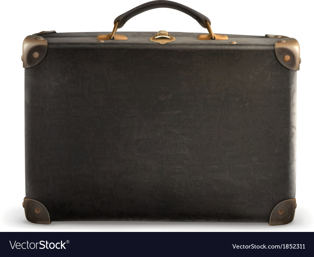 old suitcase royalty free vector image vectorstock