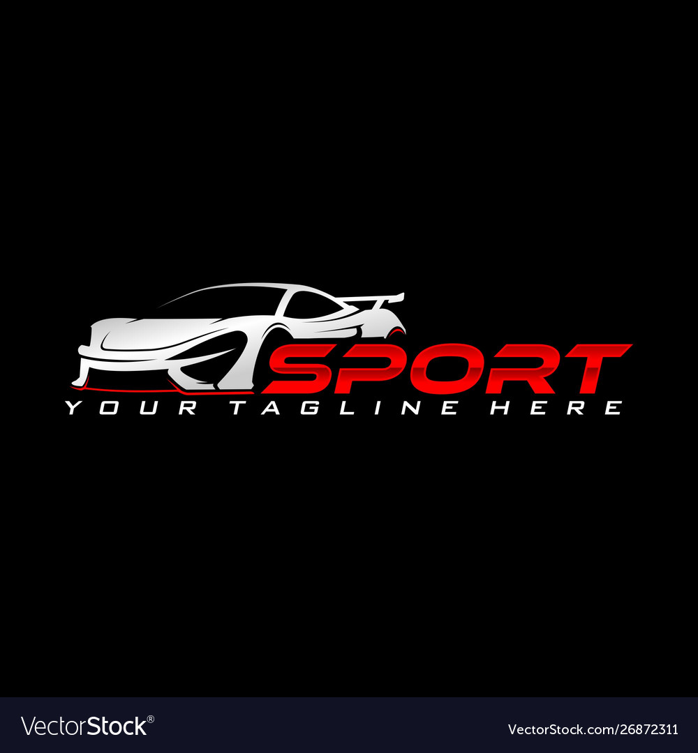 Sport Car Logo Royalty Free Vector Image Vectorstock