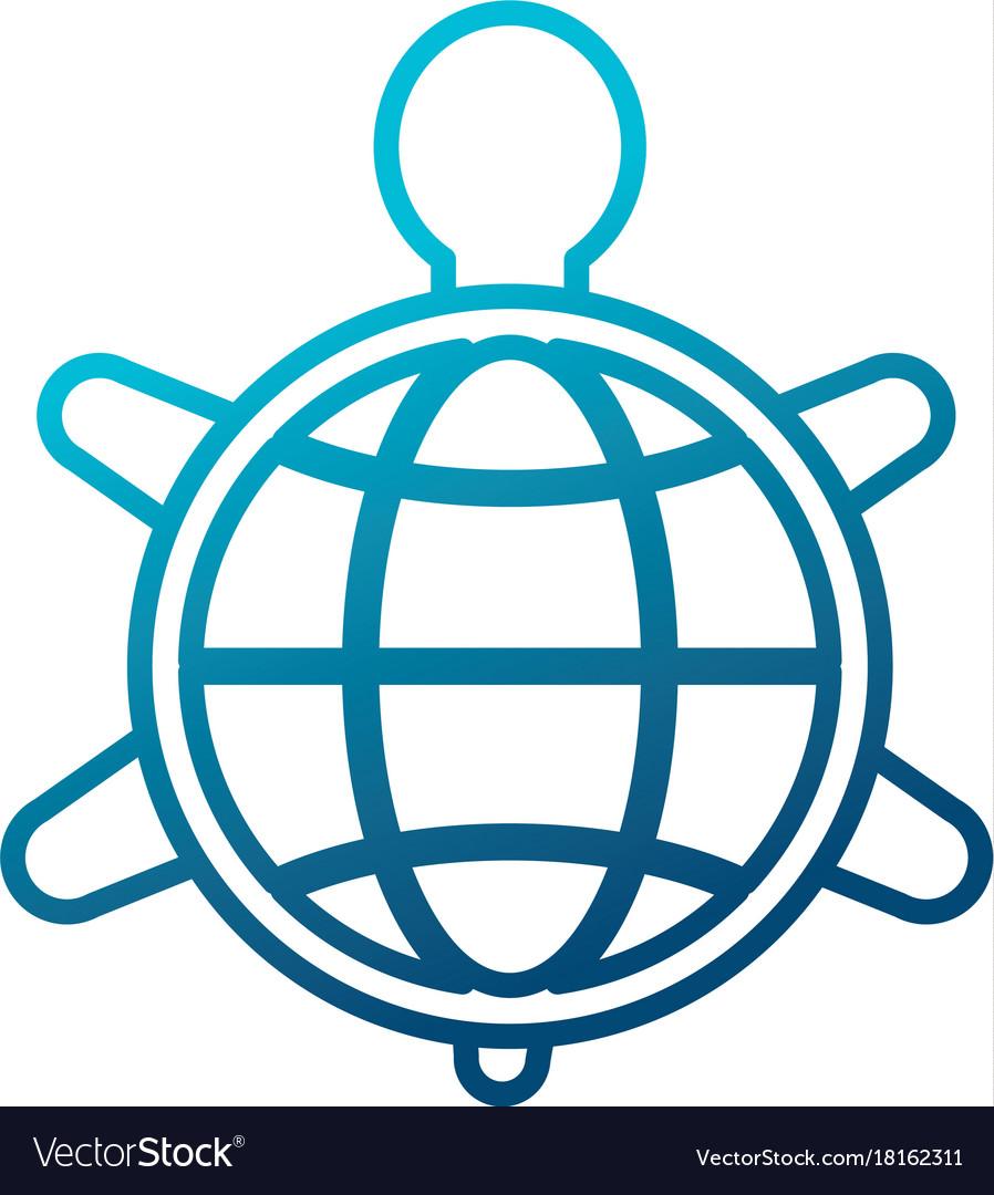 Turtle Animal Symbol Royalty Free Vector Image