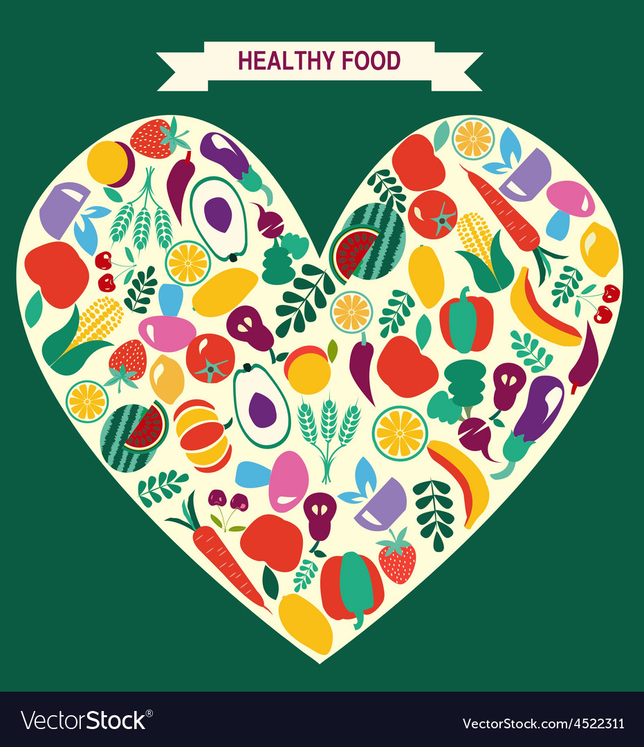 VEGETARIAN symbol Healthy Food icons vector image