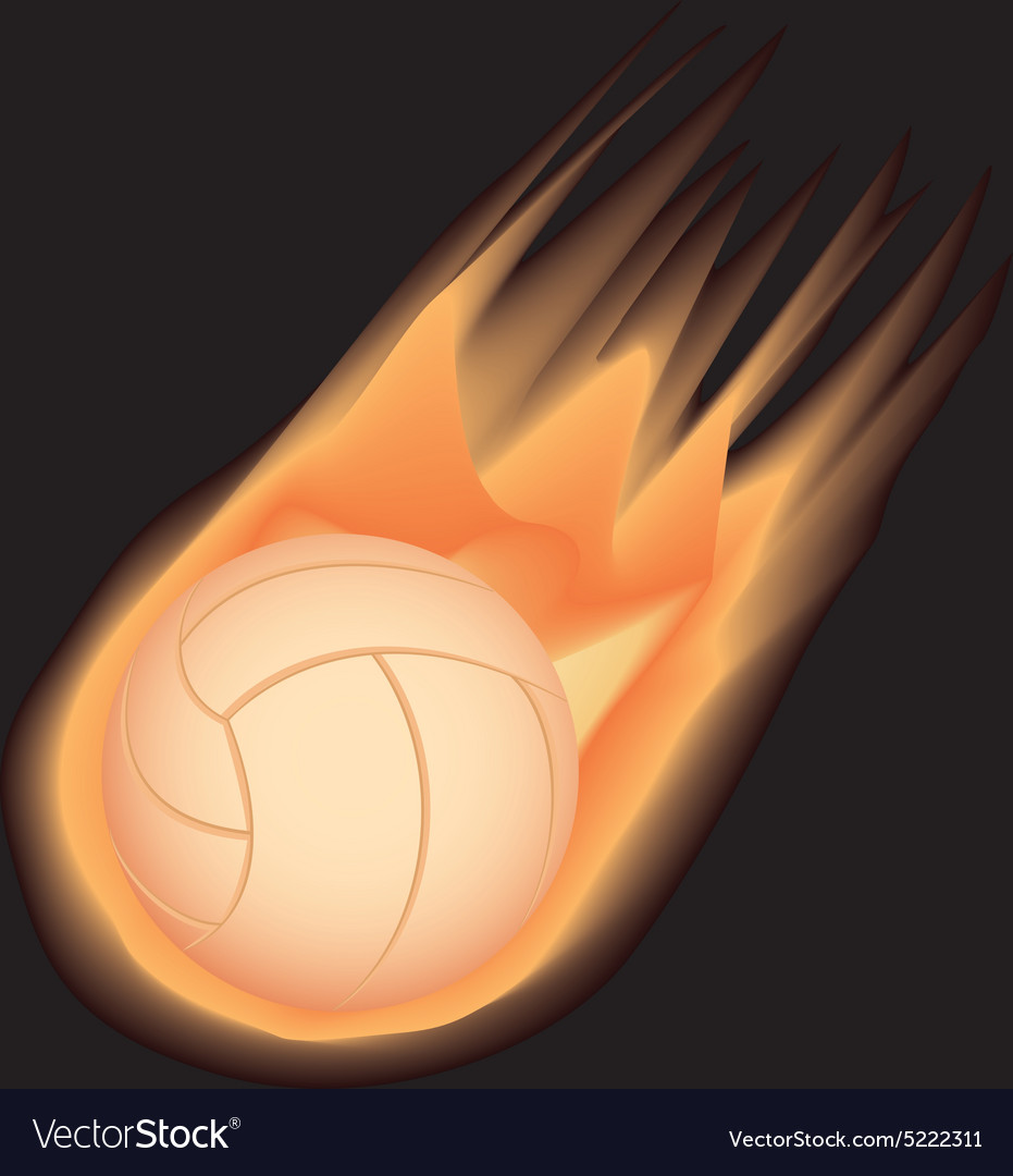 Volleyball-fire