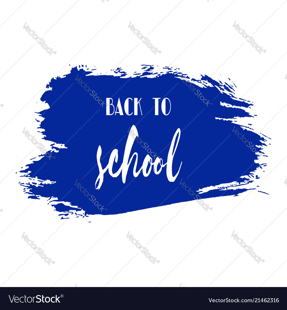 Back to school ink watercolor navy blue splash