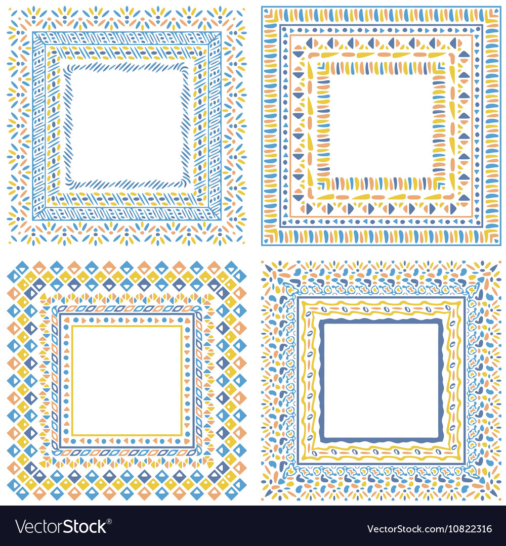 Collection of pattern frames with brushes