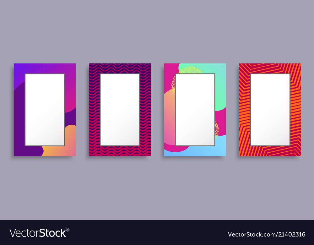 Colorful photo frames set