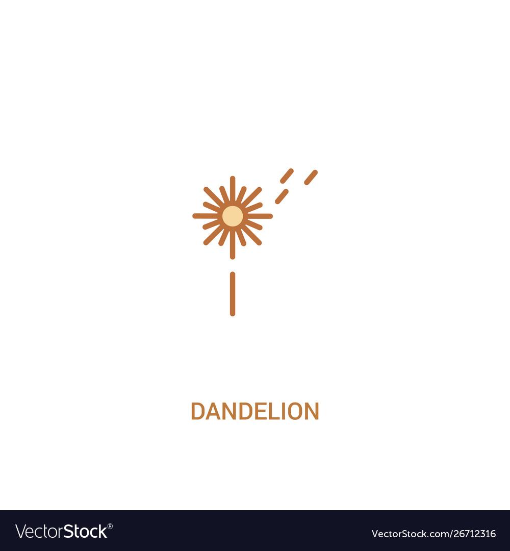 Dandelion Concept 2 Colored Icon Simple Line Vector Image