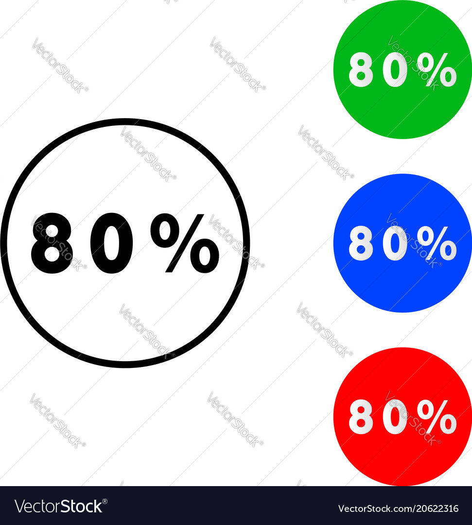 Eighty percentage circle icon royalty free vector image eighty percentage circle icon vector image ccuart Images