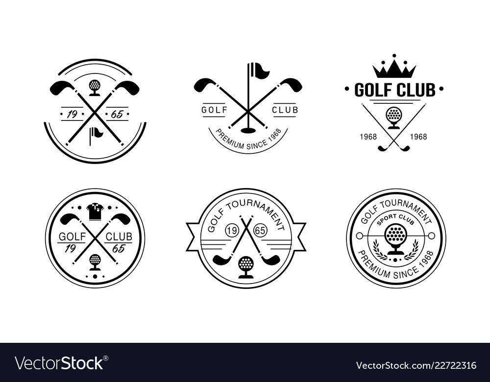 Golf club premium since 1968 logo golfing club
