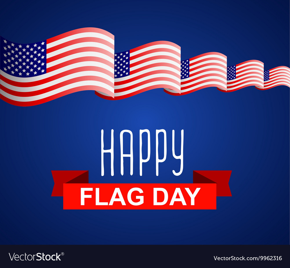 Happy Flag Day background template