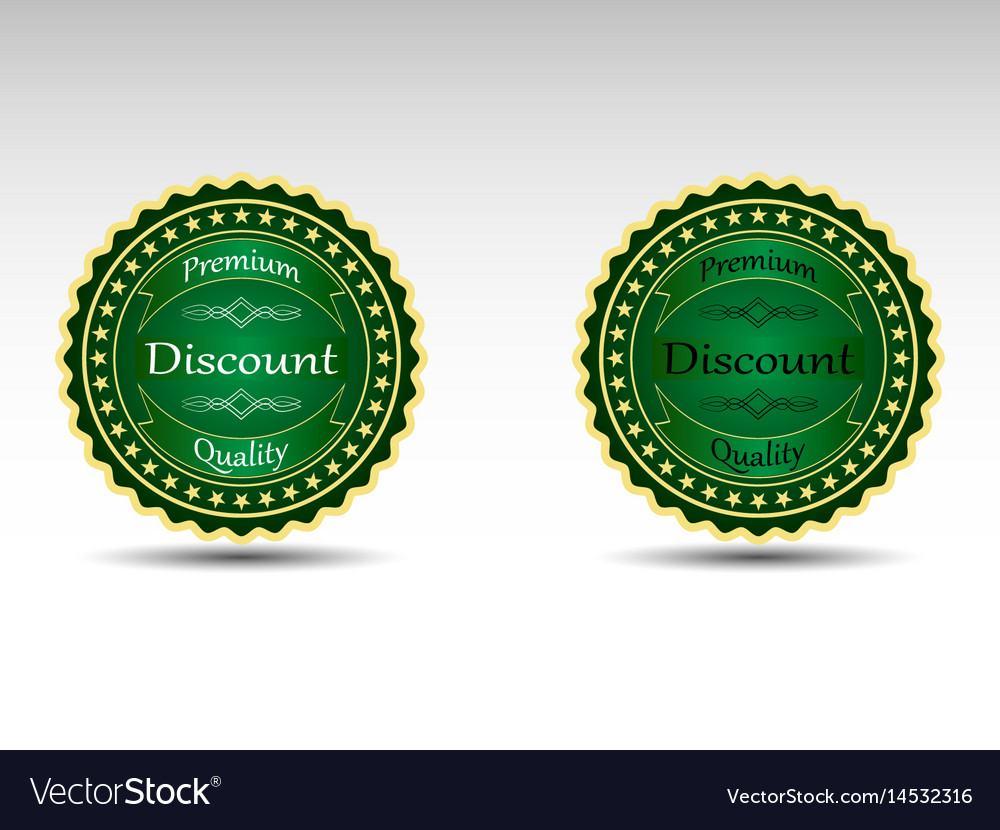 Set of badges
