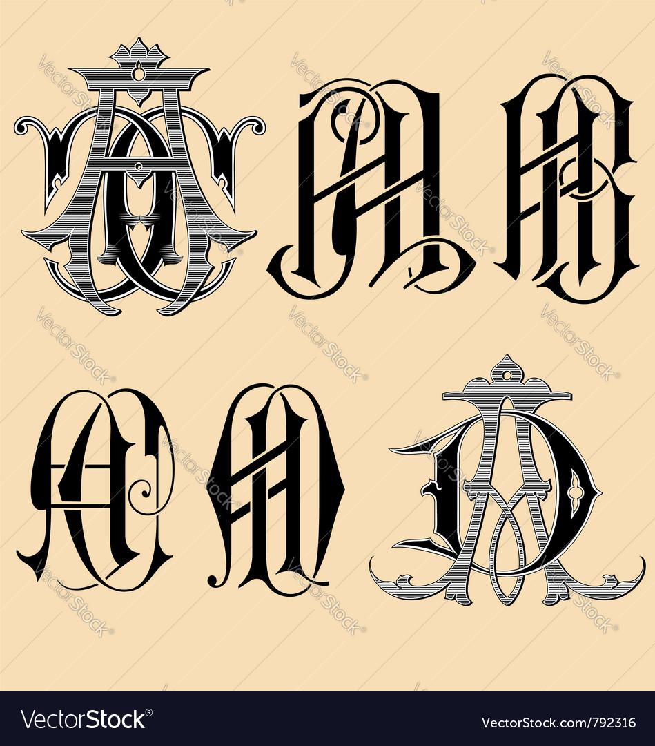 Vintage monogram aaabacad tattoo