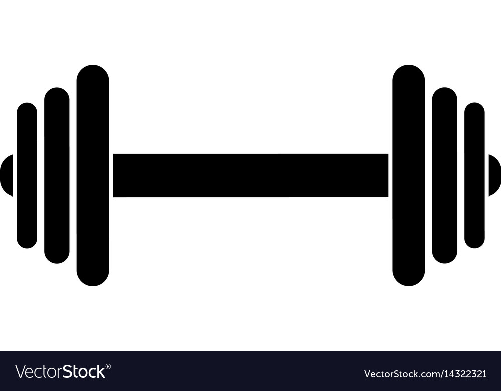 barbell fitness sport pictogram royalty free vector image