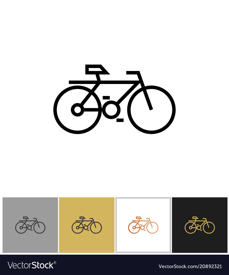 Bike icon bicycle symbol or biking travel sign