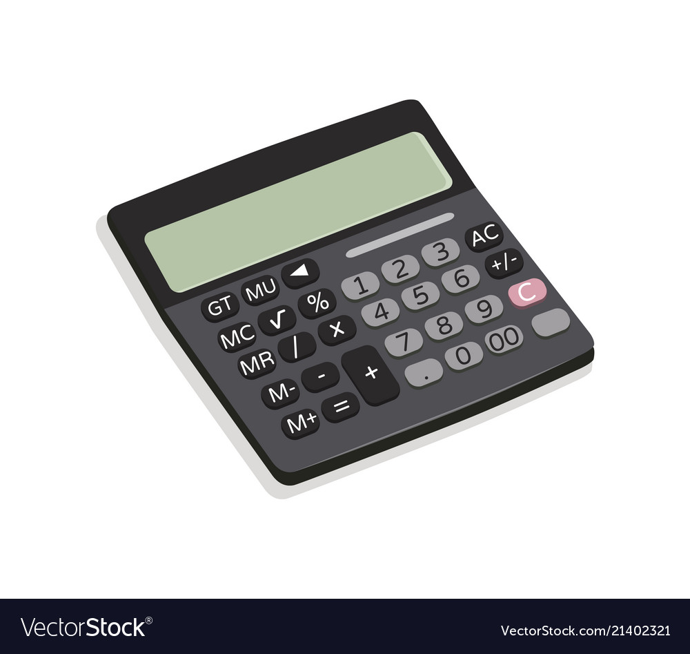 Calculator mechanical device vector