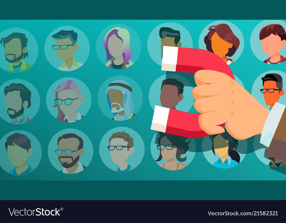 Customer retention businessman hand with