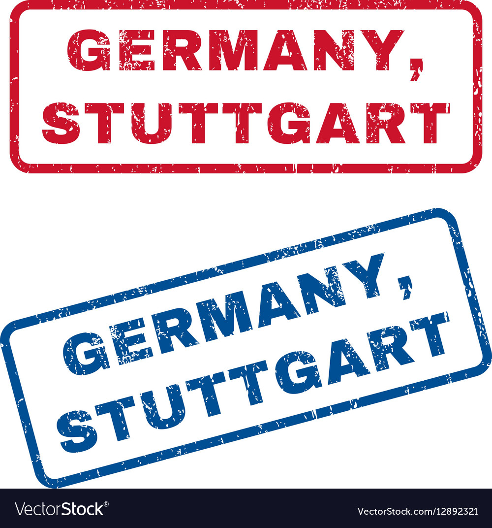 Germany Stuttgart Rubber Stamps