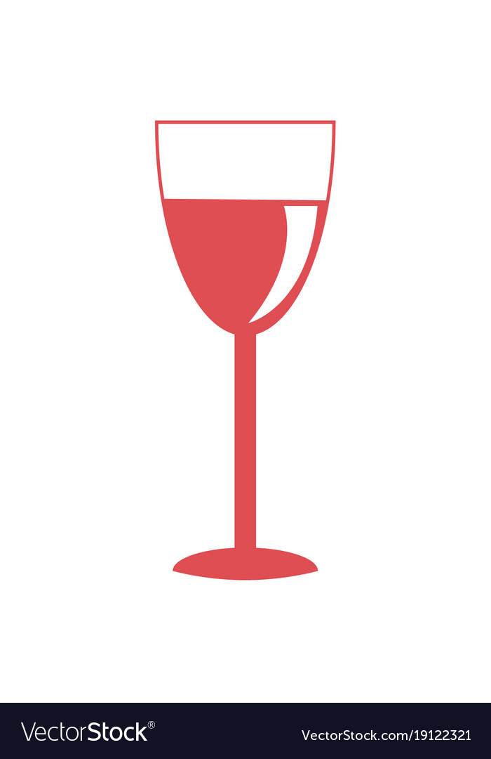 Glass red wine icon on white