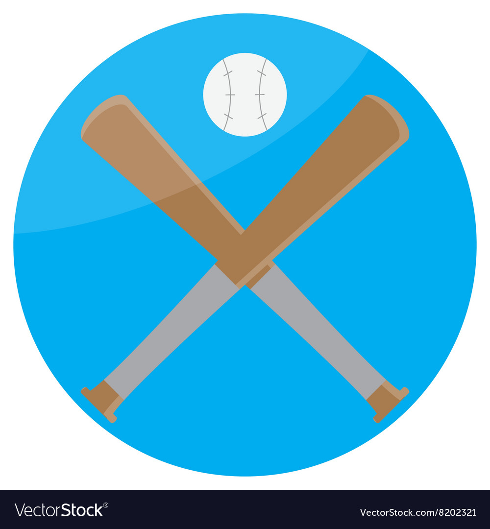 Icon baseball design flat
