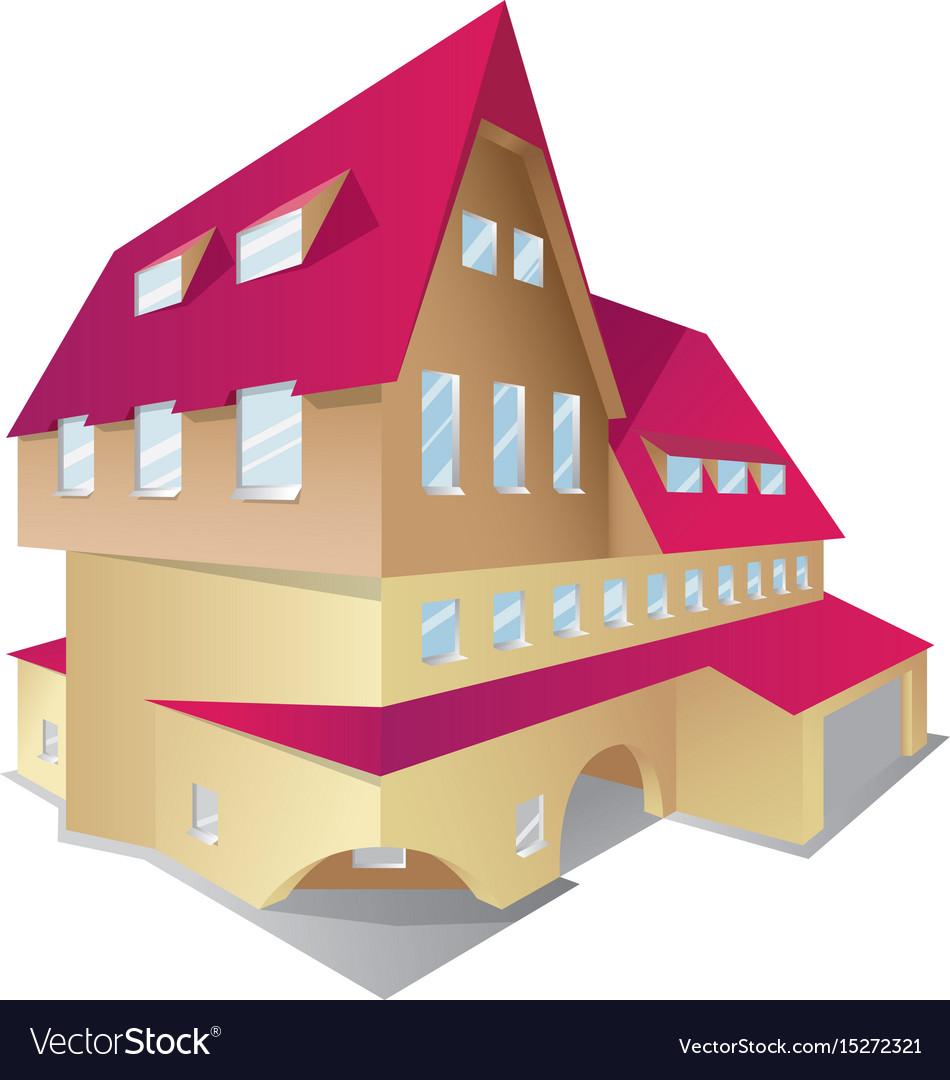 Icon of isometric house