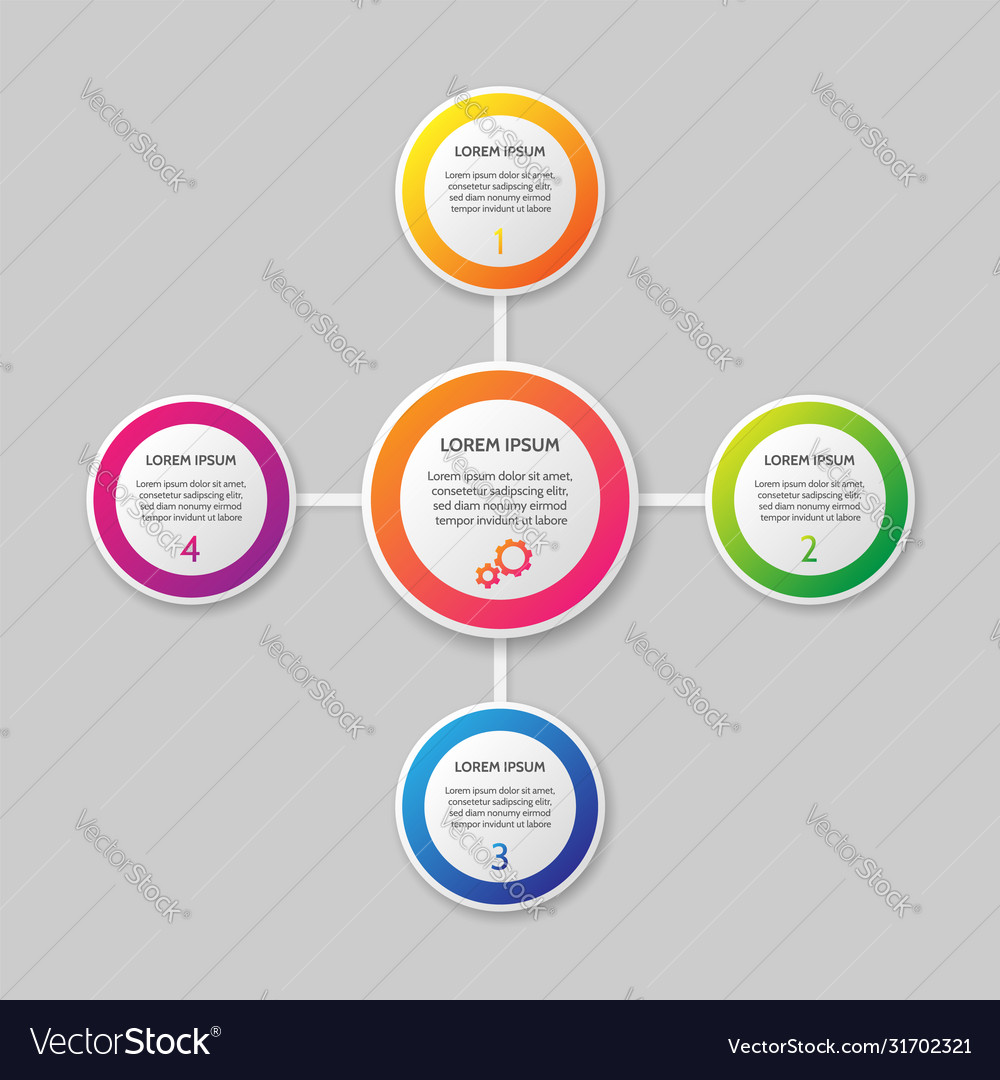 Infographic template on background