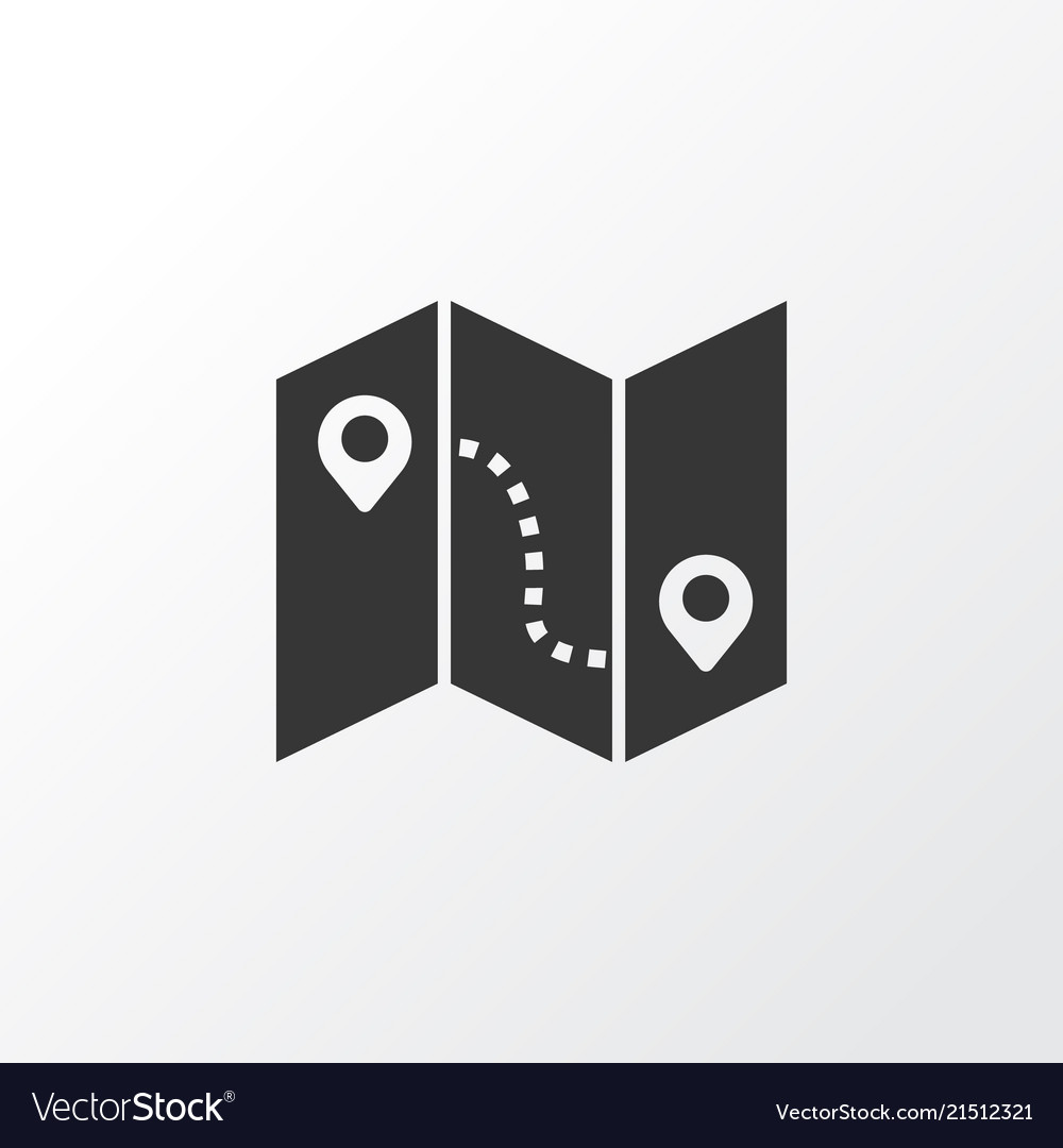 Map with route icon symbol premium quality