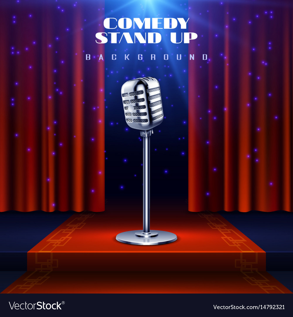 Stand up comedy background with retro vector image