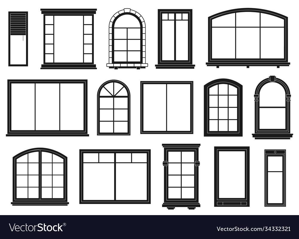 Window silhouettes exterior framing windows