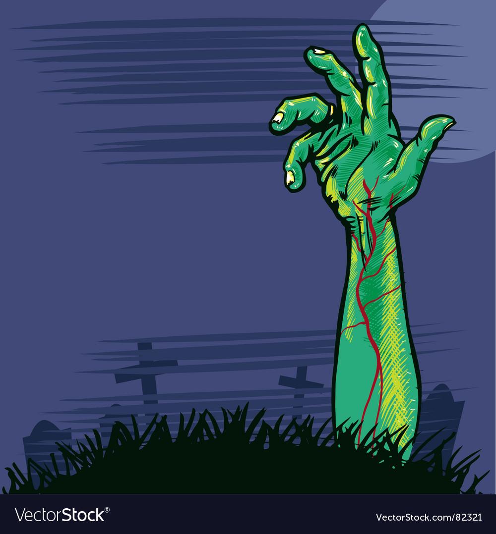 Zombie hand vector image