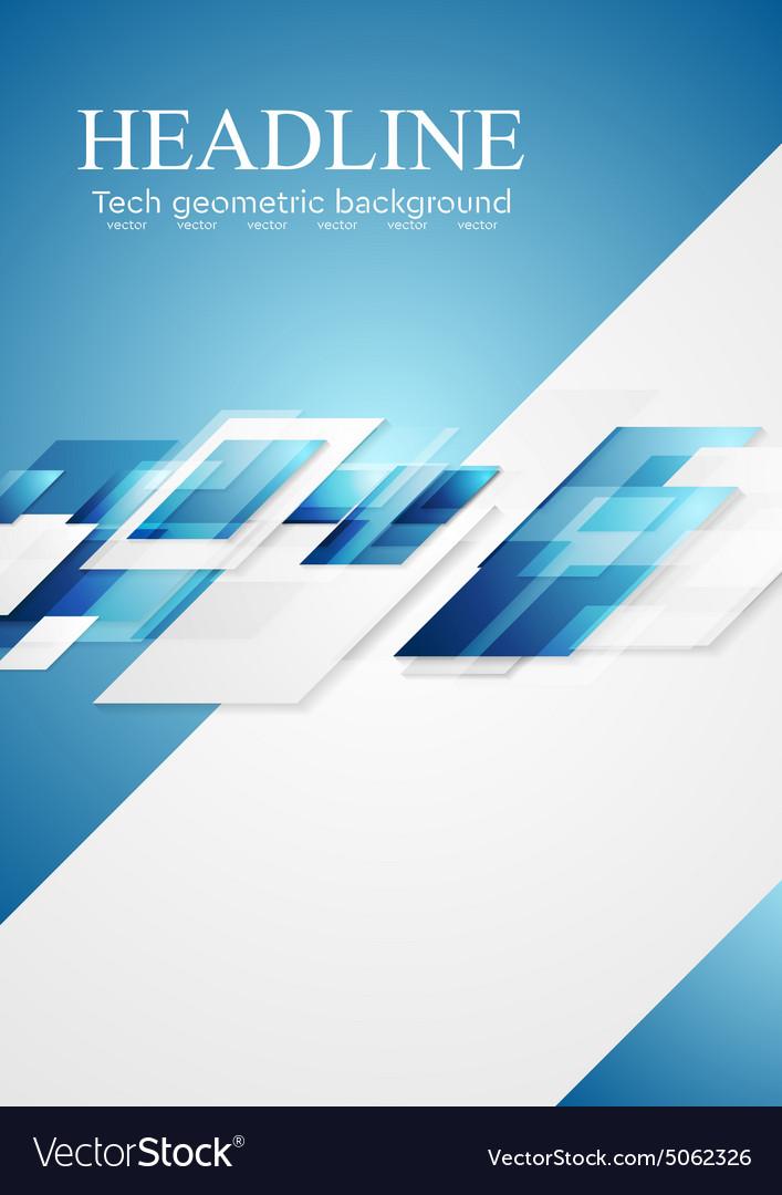 Blue grey shiny hi-tech motion background vector image