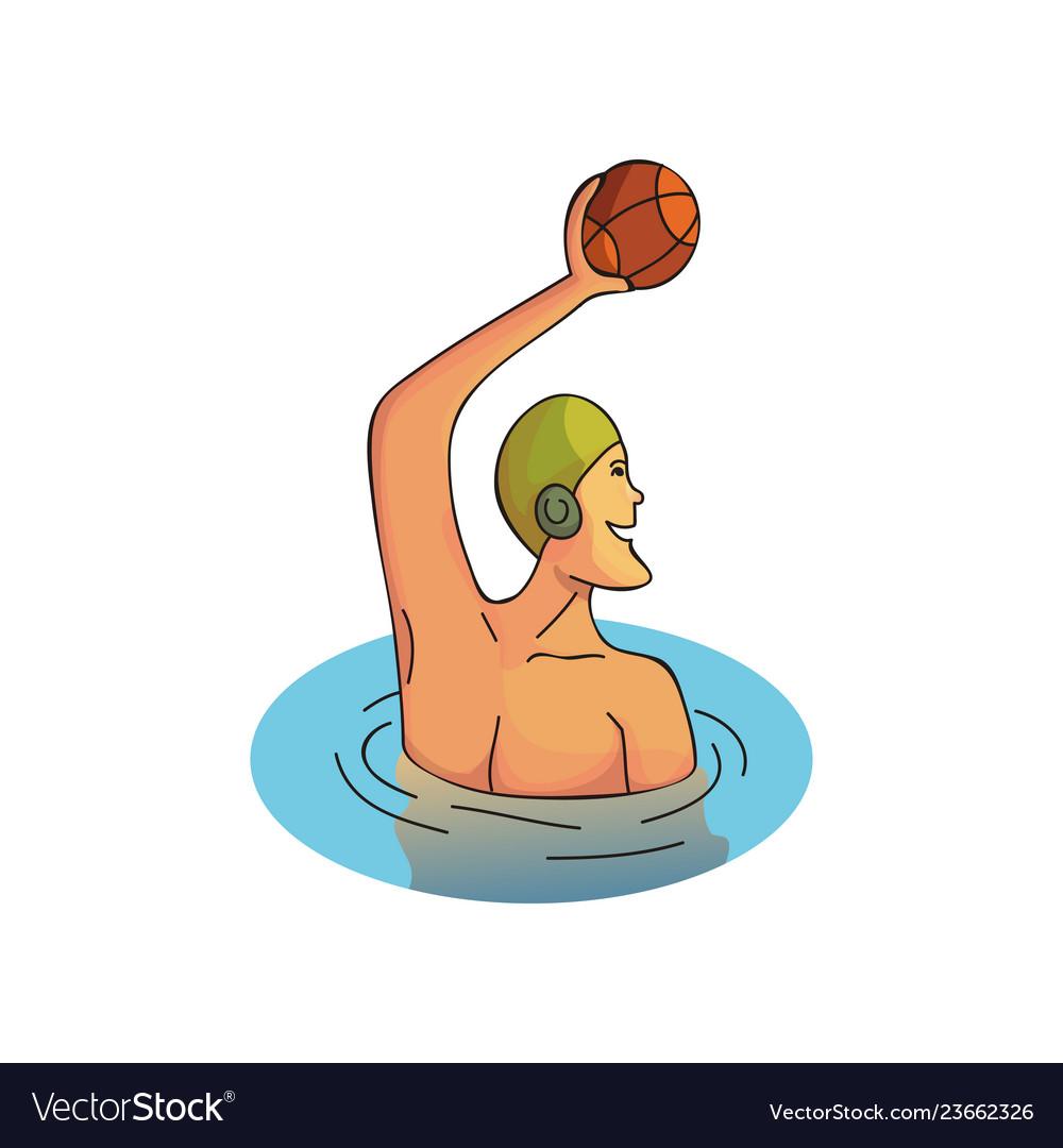 Cartoon design of professional sportsman