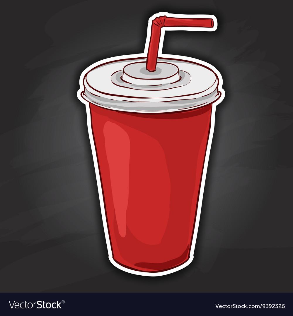 Cola cup color picture sticker
