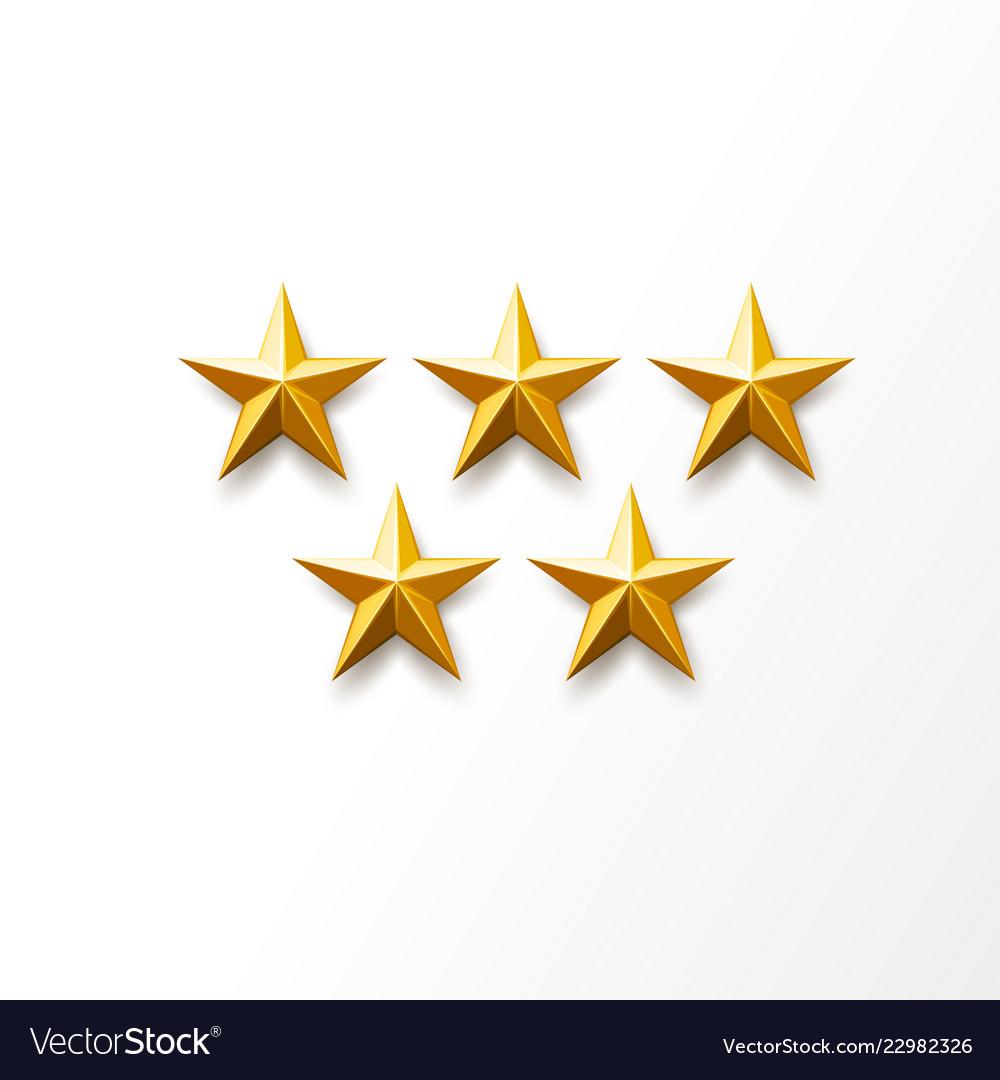 Golden star ranking symbol top award