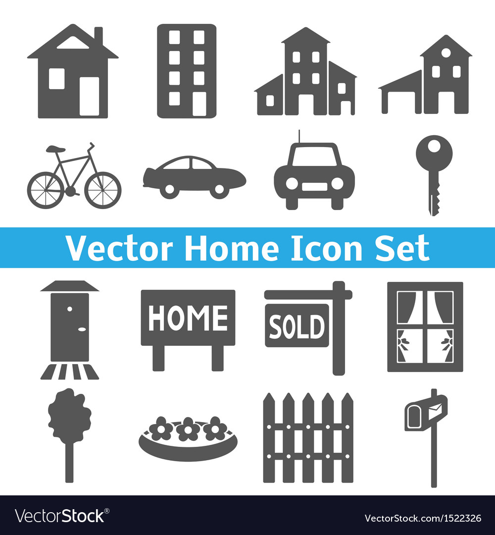 Home icons set Real estate