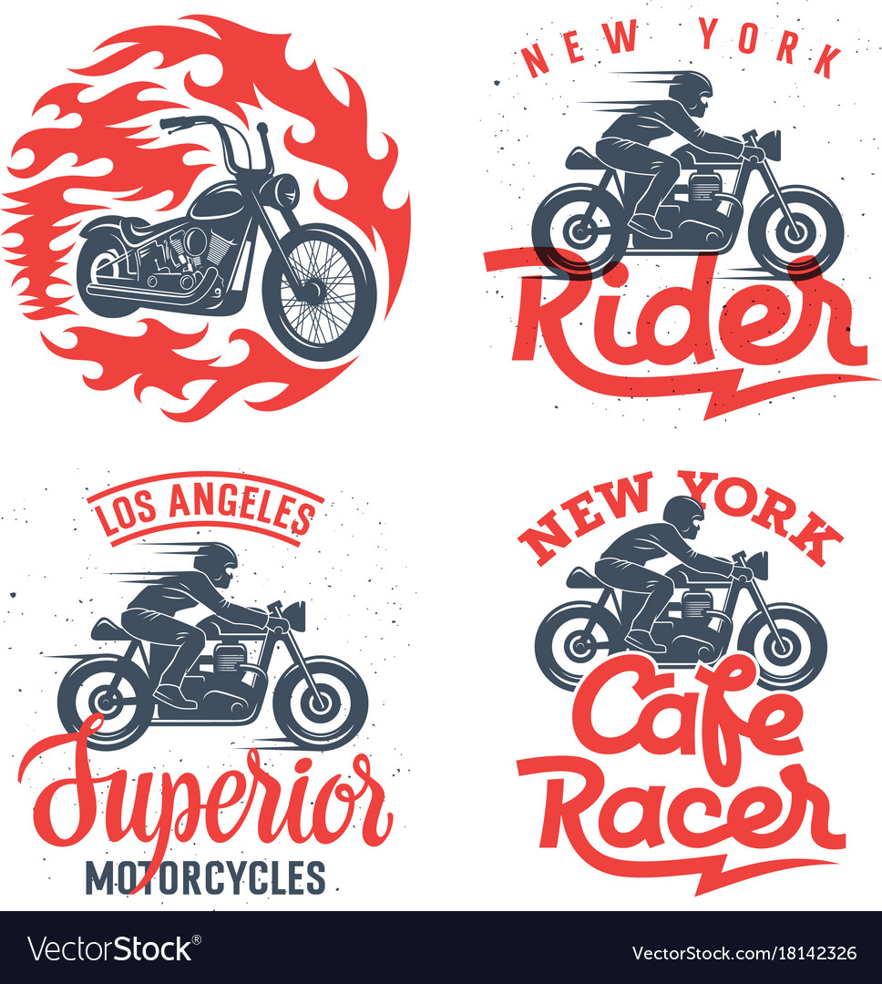 Motorcycle prints set 001
