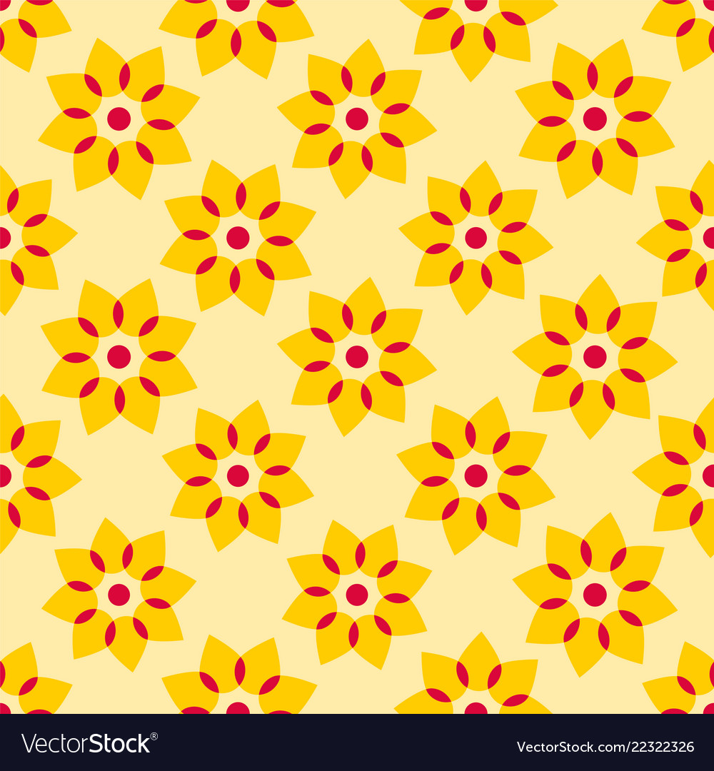 Seamless Yellow Floral Background Royalty Free Vector Image