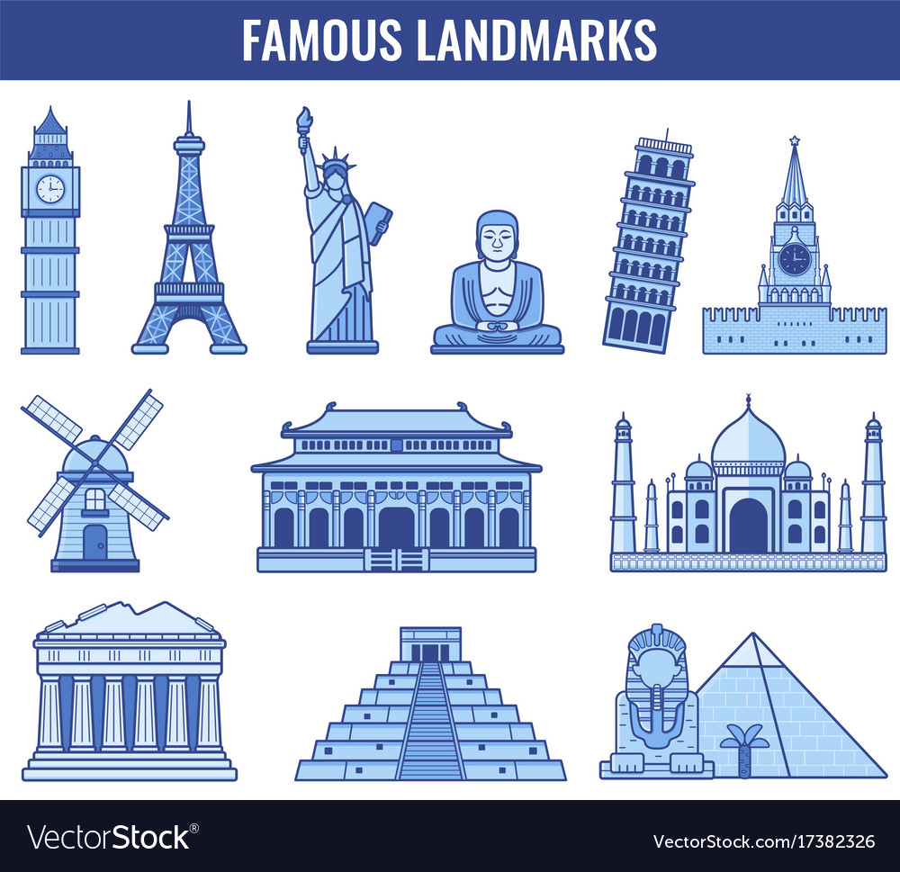 World landmarks travel and tourism