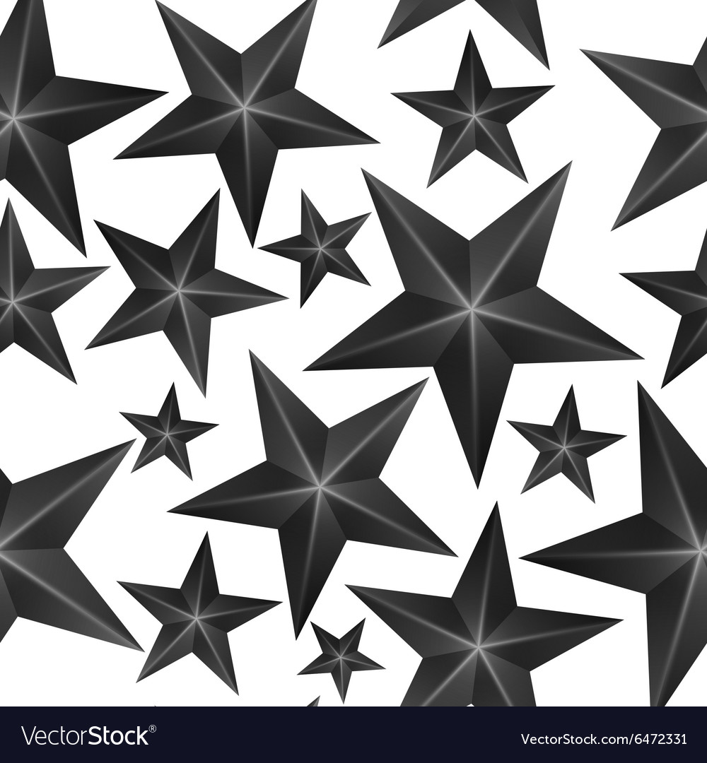 Abstract Black Stars Seamless Pattern